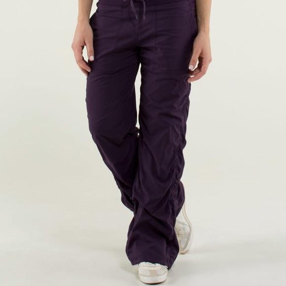 152294d18 lululemon athletica Pants - LULULEMON dance studio pant (lined) purple size  6